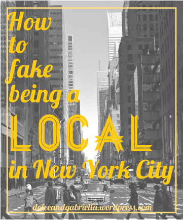 How to fake being a local